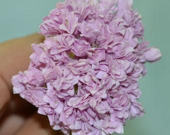 50 pieces mulberry paper mini gypso gypsophila babys breath flowers light purple color size