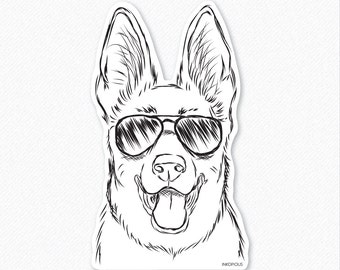 Brutus - German Shepherd Decal Sticker