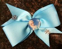 Disney's Frozen Hair Bow...Frozen Hair Bow...Elsa and Anna Hair Bow