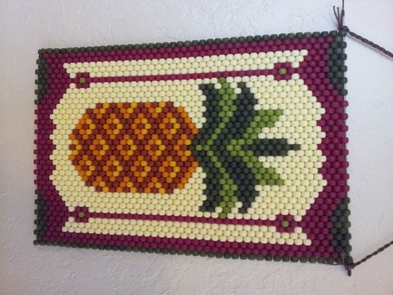 ready to ship pineapple beaded banner