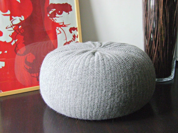 xxl stuffed pouf poof ottoman footstool home decor. Black Bedroom Furniture Sets. Home Design Ideas