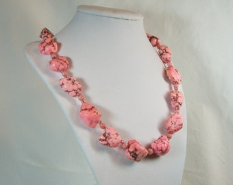 Bubble Gum Pink Beaded Necklace