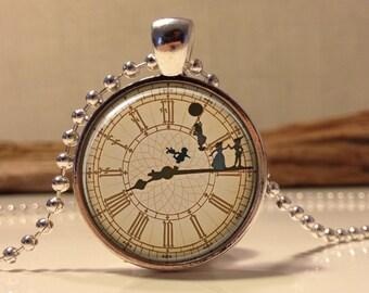 Peter Pan  Jewelry, Peter Pan Necklace Peter Pan art pendant jewelry. (peter pan #2)