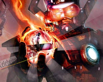 """Galactus & Silver Surfer Giclee Canvas Art W Gallery Wrap Ready To Hang Up To Size 42X28X1.5"""""""