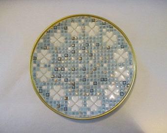 Mid Century Mosaic Tile Platter