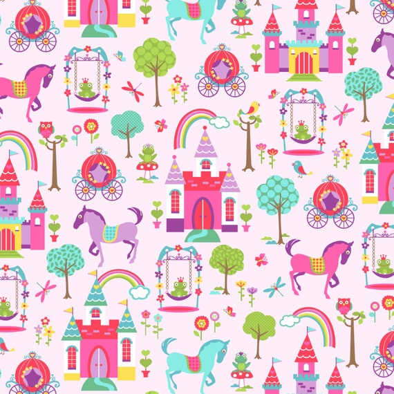Kids fabric princess land novelty fabric clothing fabric for Kids novelty fabric