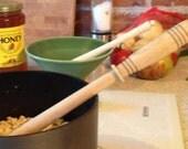 Porridge spurtle; traditional Scottish stirring stick