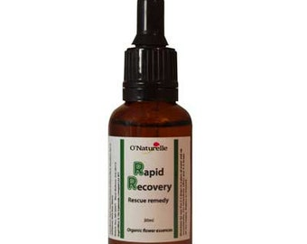 Rescue Remedy with 6 Organic Flower Essences 30ml. For Restoring Inner Calm, Control and Focus