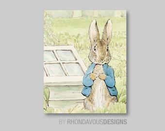 Boy Nursery Art - Girl Nursery Art - Peter Rabbit Nursery Art - Peter Rabbit Nursery Decor - Beatrix Potter - You Pick the Size (S-267)