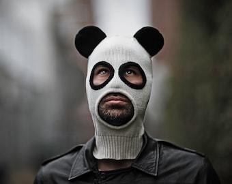 PANDITO BALACLAVA - Festival Headwear - Balaclava - Panda Mask for Men and Women - Snowboarding Hat - Ski Mask - Panda Costume - Halloween