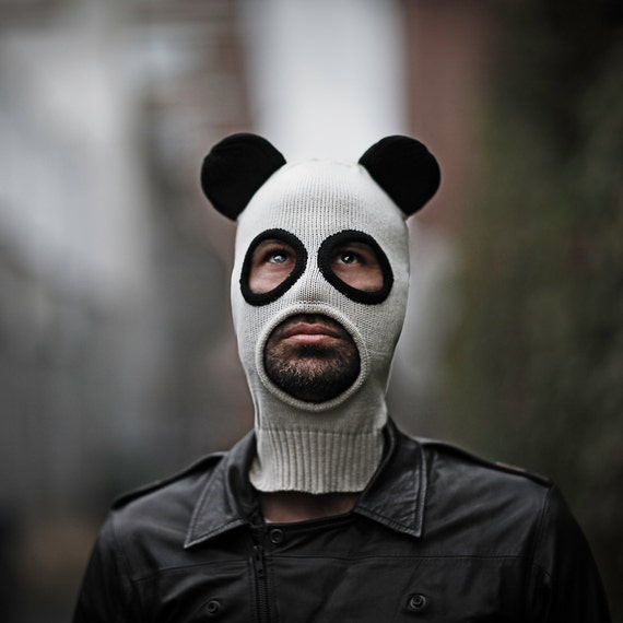 PANDITO BALACLAVA Men and Women - Panda Mask - Designer Spencer Hansen for Blamo Toys - Cotton Knit Beanie