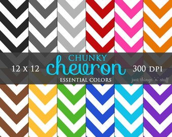 Rainbow Paper Digital Chevron Paper - Digital Paper Pack - Chevron Digital Pattern - Bright Digital Paper - Colorful Digital Pattern - Print