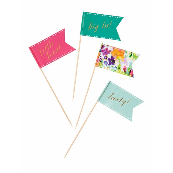 Floral Fiesta canape flags