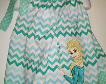 Queen Frozen Elsa Sisters Ice Boutique Birthday Party Pillowcase Summer Dress Girl Outfit! Pillow Case Dress Sundress Park
