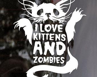Zombie Kitten Decal
