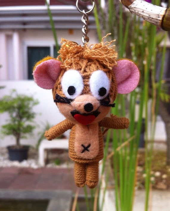 Tom And Jerry Christmas Tree: Tom And Jerry Cartoon String Voodoo Doll Funny Keyring