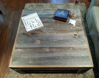 Large Barn Wood Table with Drawer