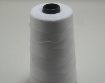 White Sewing Thread 5000yd Cone, General Use Polyester Thread  sku9336