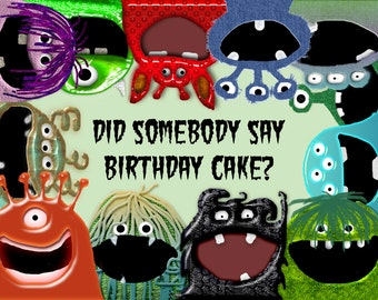 Monster Birthday Party Printable Invitation