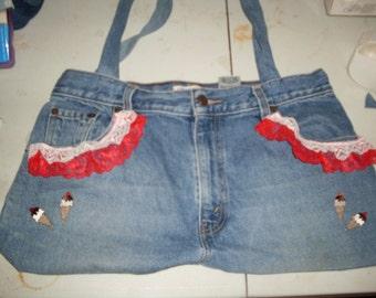 Reclaimed Denim Jeans Purse