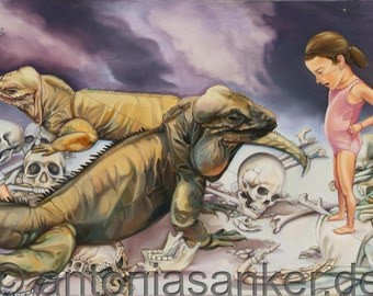 "Fine art-Gliclée prints ""Ragnarok"" by Antonia Sanker"