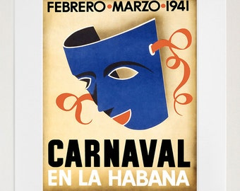Travel Poster Havana Cuba Art Print Vintage Home Decor (TR136)