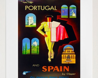 Matador Spain Wall Art Spanish Print Travel Poster Home Decor (ZT668)