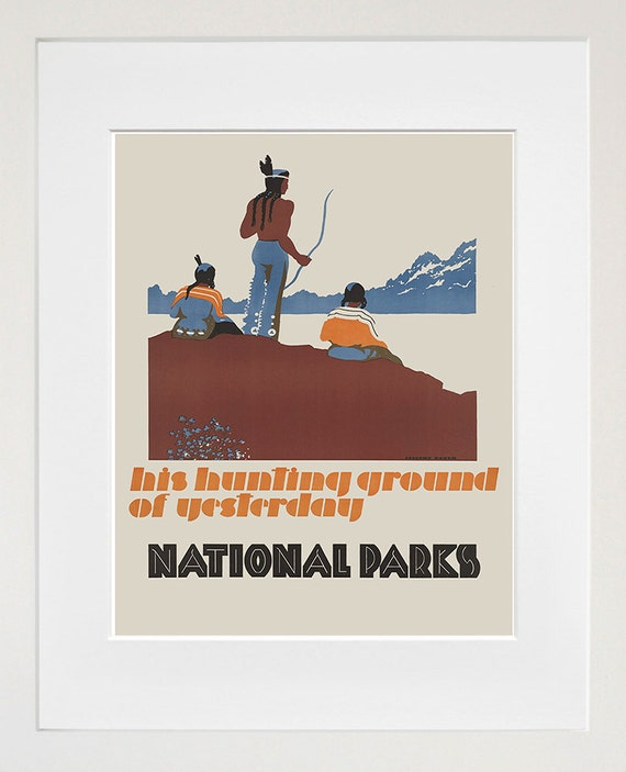 Retro decor national parks art travel poster wall art print for Decor nation