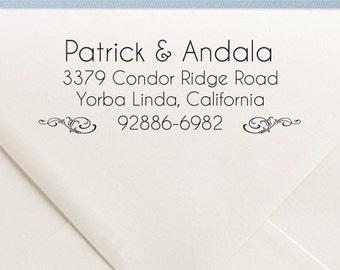 Invitation Address Stamp - Custom Wedding Address Stamp - Personalized Rubber Stamp - TR8