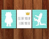 Where the wild things are printable nursery art, Instant Download