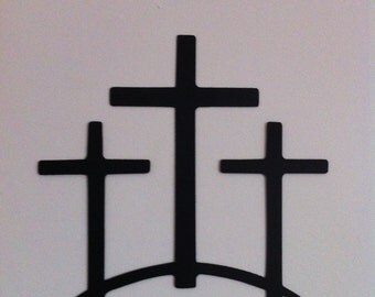 Metal Trinity Crosses Wall Decor Trinity Cross Hand Crafted Metal