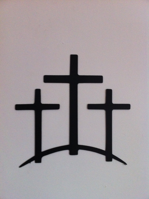 Metal Trinity Crosses Wall Decor Trinity Cross Hand Crafted