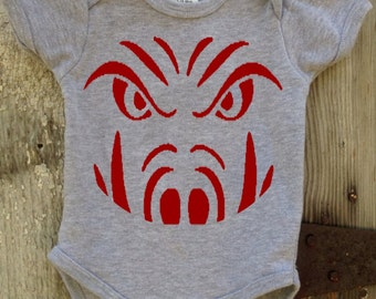 Razorback Face Bodysuit for Baby