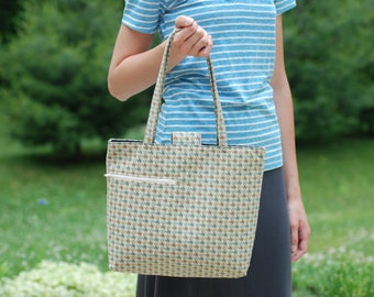 Business Tote Houndstooth pattern