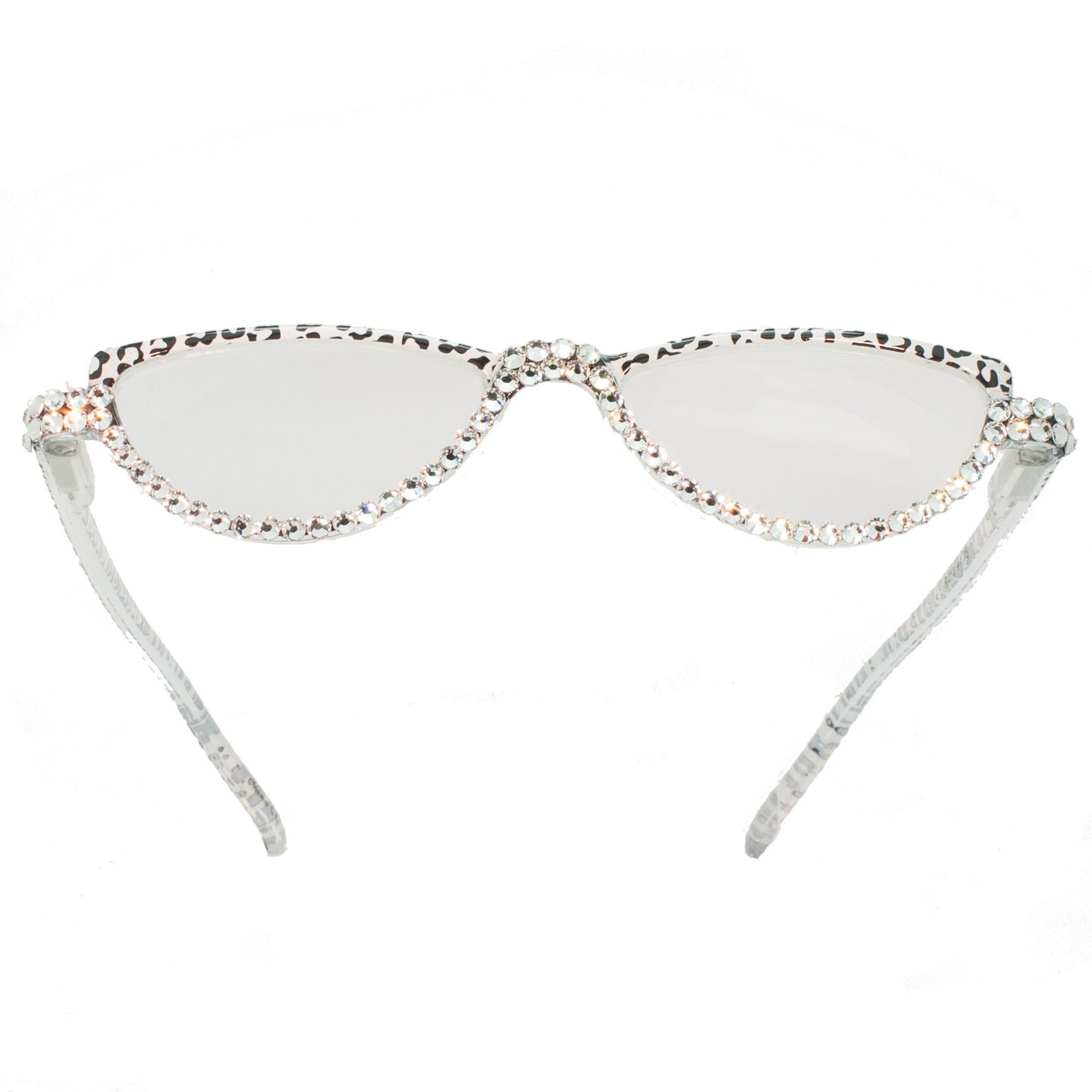 Glasses Frames With Bling : Swarovski Embellished Bling Reading Glasses Black by ...