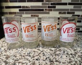 Vintage Vess Soda bottle drinking glasses