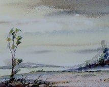 Holyhead Mountain, Anglesey. Original Watercolour Landscape Painting.