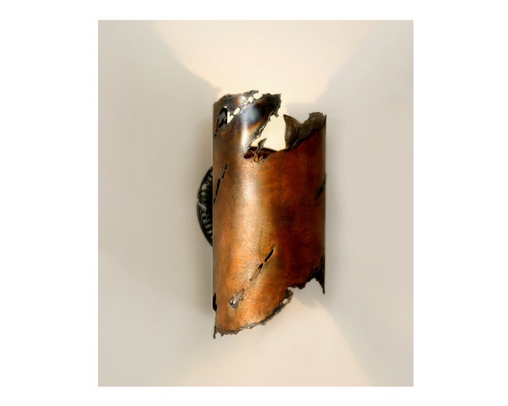 Rustic Style Wall Sconces : Items similar to EARTHEN ] wall sconce light, light sculpture, southwest, rustic in nature ...