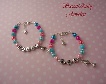 Girls Personalized Dolphin Charm Bracelet 1 pcs -- Kids/Ladies -- With An Elegant Gift Box