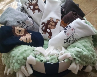 Baby Boy Gift Basket, Baby Gift Basket, Baby Boy Shower Gift, Baby Shower Gift, Baby clothing, Infant clothing, boy clothing, shower gift