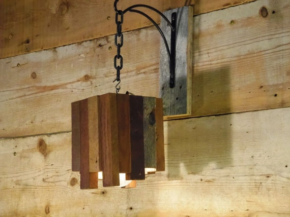 reclaimed wood hanging light fixture. Black Bedroom Furniture Sets. Home Design Ideas