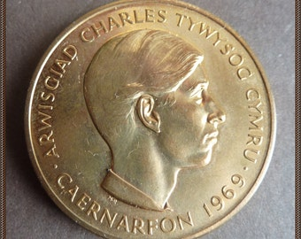 British Royalty Commemorative Medal. Investiture of Prince Charles as the Prince of Wales at Caernarfon Castle in 1969