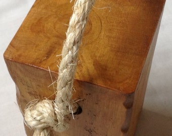 Handmade Door Stop with Rope Handle