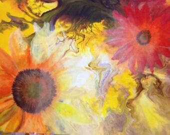 12x14 Sunflower Print
