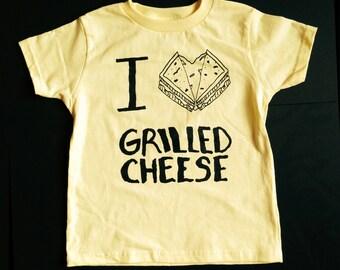 I LOVE grilled cheese tee kids