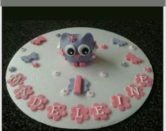 Edible Cake Image Owl : Owl cake topper Etsy