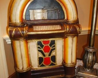 Vintage Handmade, Handpainted Juke Box Cabinet