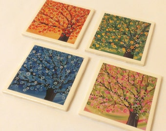 Tree Coasters - Set of 4