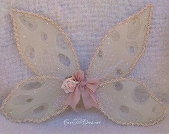 Fairy wings Woodland Fairy Whismy Whispers fairy wings The Enchanted Woods vintage handmade fairy wings girls fairy party photograph