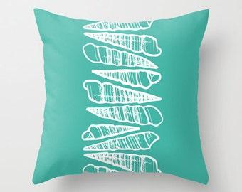30 colors Sea Shells Pillow Cover, seashells decor, turquoise pillow, blue pillow, beach pillow, beach house decor, beach throw pillow